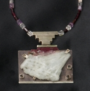 Quartz With Silver Pendant & Necklace