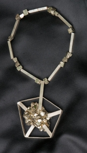 Silver With Pyrite Pendant