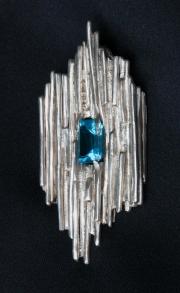 Blue Topaz & Silver Pendant