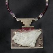 Quartz With Silver Pendant & Necklace