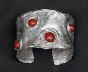 Silver & Carnelian Bracelet