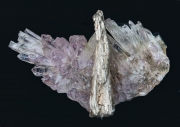 pendant, quartz with silver